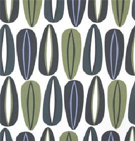 Fifties - Green Grey - White IKEA fabric with a modern green abstract pattern