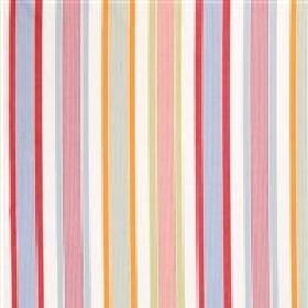 Karusell - Multi - Multi coloured vertical stripes on white fabric from IKEA