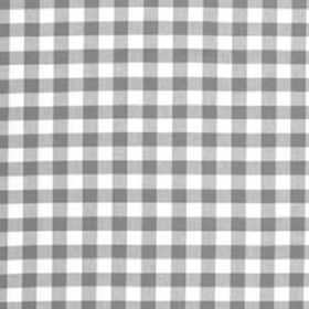 Nisha Grey - Linum - Grey and white checks printed in a simple design on cotton fabric