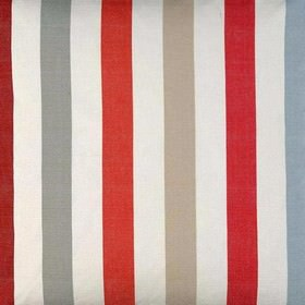 Helene - Red Blue - White fabric with red and blue vertical stripes from IKEA