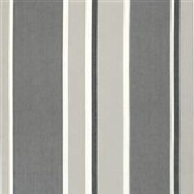 Shanghai - Grey - Fabric with dark and light grey bands with white and black stripes from IKEA