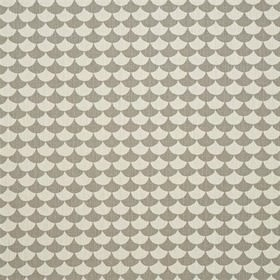Waves - Grey - Grey and white fish scale grid IKEA fabric