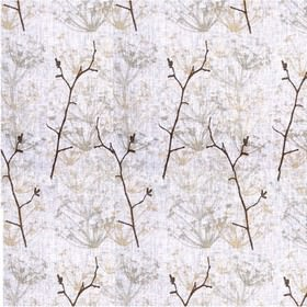 Ogras - Natural - Rose fabric with sandy meadow flowers from IKEA