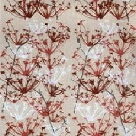 Ogras - Natural Red - Sandy fabric with red meadow flowers from IKEA