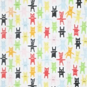 Monster - Multi - White IKEA fabric with multicoloured tiny monsters
