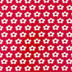Fiddeli - Red - Red and white cotton fabric with a simple floral print