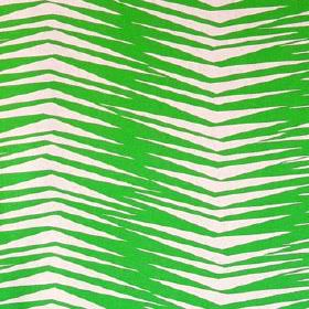 Skinny laMinx Brazil - Green Fronds - 100% cotton fabric with a simplebut uneven chevron pattern in white and very bright grass green