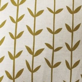 Skinny laMinx Orla - Olive - White fabric from IKEA with olive green stalks and leaves