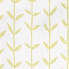 Skinny laMinx Orla - Lemon - White fabric from IKEA with lemon yellow stalks and leaves