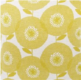 Skinny laMinx Flower Field Penny - Yellow - White fabric from IKEA with a modern yellow flower grid