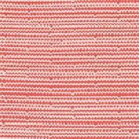 Mello - Coral - Tiny horizontal zigzag lines on coral red fabric