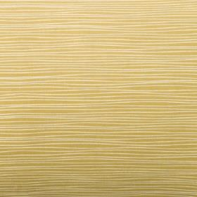Line - Mustard - Cream and biscuit coloured 100% cotton fabric patterned with uneven, very thin horizontal lines