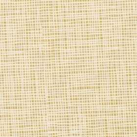Nat - Mustard - A very small, uneven white grid printed over a light caramel coloured 100% cotton fabric background