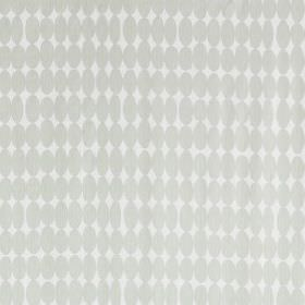 Vilma - Natural - 2 very similar light shades of grey making up a pattern of rows of unevenly sized ovals on fabric made from 100% cotton