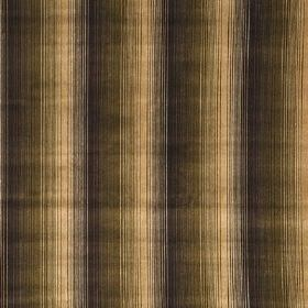 Straight Forward - Coffee - Viscose and cotton fabric with striped design in coffe brown fading to beige