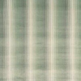 Straight Forward - Pale Aqua - Very thin stripes fading from aqua to white on viscose and cotton fabric