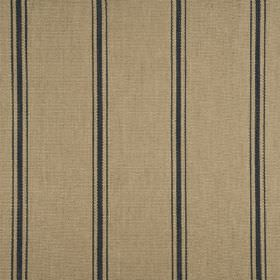 Wilderness - Indigo - Indigo stripes on beige fabric made of linen, cotton, bamboo and polyamide