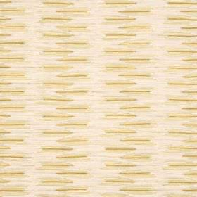 Grace - Cream - Short yellowish lines on pink cotton, nylon, polyester and viscose fabric