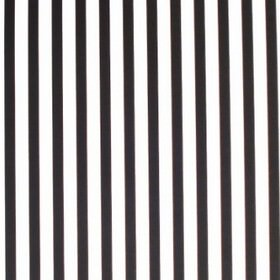 Stripe - Narrow - Narrow stripes running evenly and vertically down 100% cotton fabric in a striking black and white design