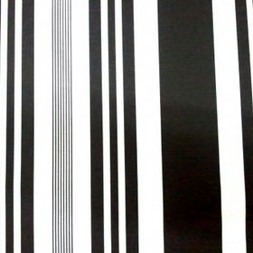 Stripe - Pyjama - Black stripes of different widths printed vertically on a white 100% cotton fabric background