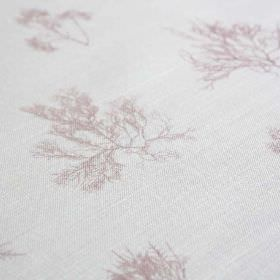Ceramium - Rose - Light shades of purple and grey making up delicate, vein-like tree branch patterns on fabric made from linen and nylon