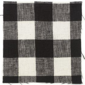 Check Linen - Black - Black and white plaid linen