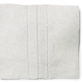 Hem Stitch Rows - White - Plain white linen with a hem decoration