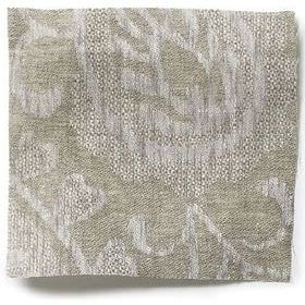 Large Paisley Linen - Natural - Natural grey linen with natural paisley design