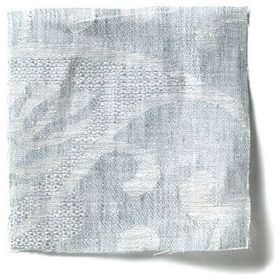 Large Paisley Linen - Parma Grey - Parma grey linen with paisley design