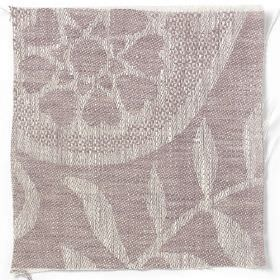 Large Paisley Linen - Rose Taupe - Rose taupe linen with natural paisley design