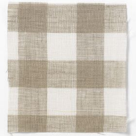 Check Linen - Natural - Natural and white plaid linen