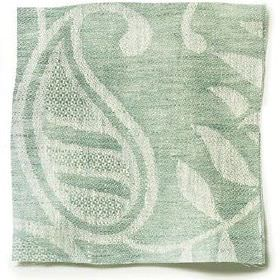 Large Paisley Linen - Sea Green - Sea green linen with paisley design