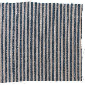 Narrow Stripe Linen - Prussian Blue And Natural - Prussian blue and natural narrow striped linen