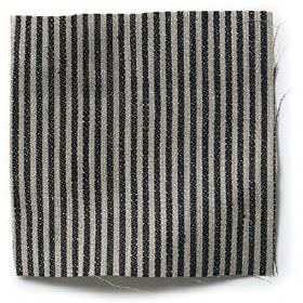 Narrow Stripe Linen - Black And Natural - Black and natural narrow striped linen