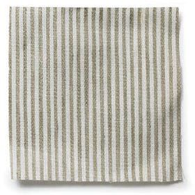 Narrow Stripe Linen - Natural - Natural narrow striped linen