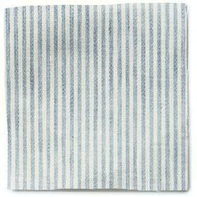 Narrow Stripe Linen - Parma Grey - Parma grey and white narrow striped linen