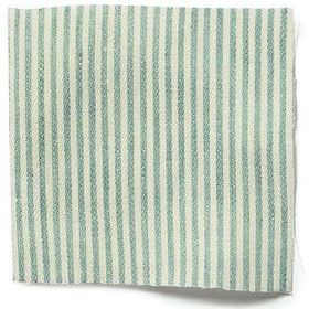 Narrow Stripe Linen - Sea Green - Sea green and white narrow striped linen