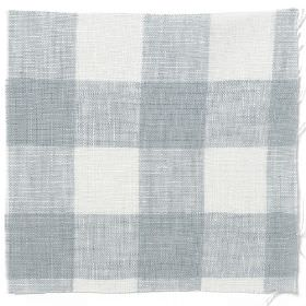 Check Linen - Parma Grey - Parma grey and white plaid linen