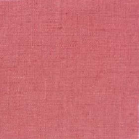 Plain Weave Linen - Pink Coral - Plain pink coral red linen fabric