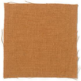 Plain Weave Linen - Saffron - Plain saffron yellow linen fabric