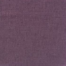 Plain Weave Linen - Plum - Plain plum purple linen fabric