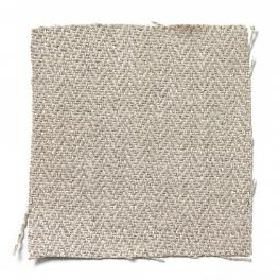Upholstery Linen Herringbone - Natural - Plain natural sandy linen fabric