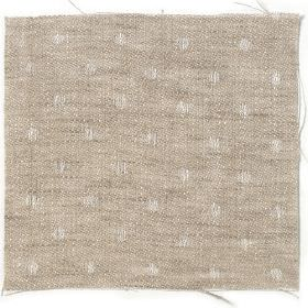 Spot Linen - Natural and White - Natural coloured linene with white dots