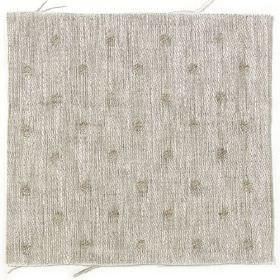 Spot Linen - Natural and White Reverse - White linen with natural coloured dots