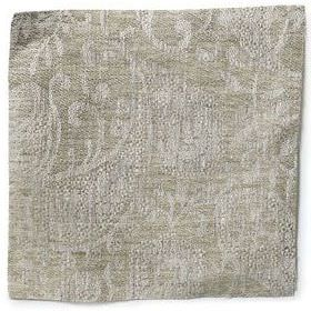 Small Paisley Linen - Natural - Natural linen with small paisley decoration