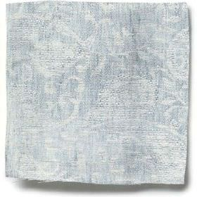 Small Paisley Linen - Parma Grey - Parma grey linen with small paisley decoration