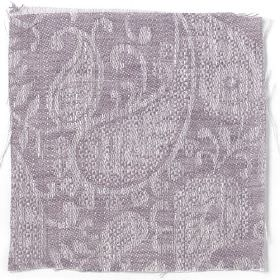 Small Paisley Linen - Rose Taupe - Rose taupe linen with small paisley decoration