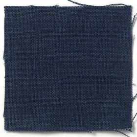 Upholstery Plain Weave Linen - Prussian Blue - Plain Prussian blue fabric