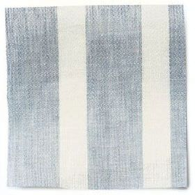 Wide Stripe Linen - Parma Grey - Wide striped parma grey and white linen fabric