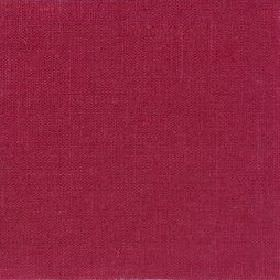Plain Weave Linen - Crimson - Cherry coloured linen fabric which is plain and unpatterned